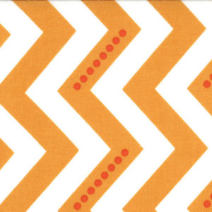 Moda Fabrics, Simply Color, Chevron Orange