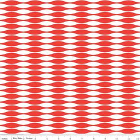 Riley Blake, Mod Studio, Red & White Geo Lines
