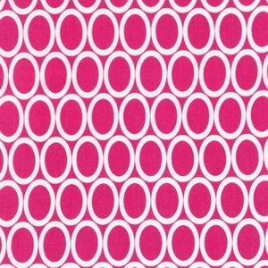 Robert Kaufman Fabrics, Anne Kelle, Oval Remix Bright Pink