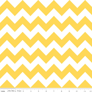 Riley Blake, RB Designs, Medium Chevron Yellow