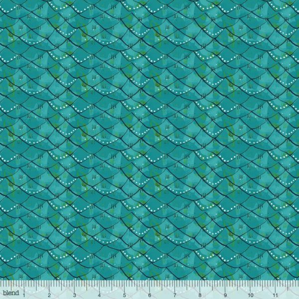 Blend - Mermaid Days - Scalloped Turquoise