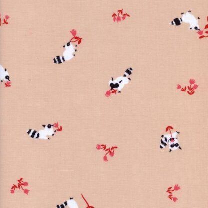 Cotton + Steel - Yours Truly - Tanuki in Peach