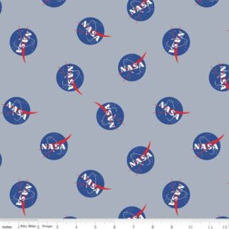 Riley Blake - Out of this World with NASA - Logo Main Grey