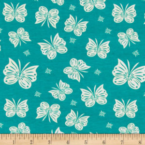 Riley Blake - Acorn Valley - Flutter Teal in KNIT