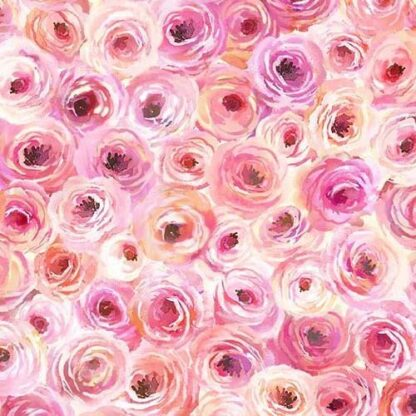 Michael Miller - Floral Fancy - Perfect Roses (Pink)