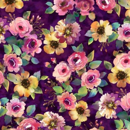 Micheal Miller - Floral Fancy - Delicate Breeze (Purple)